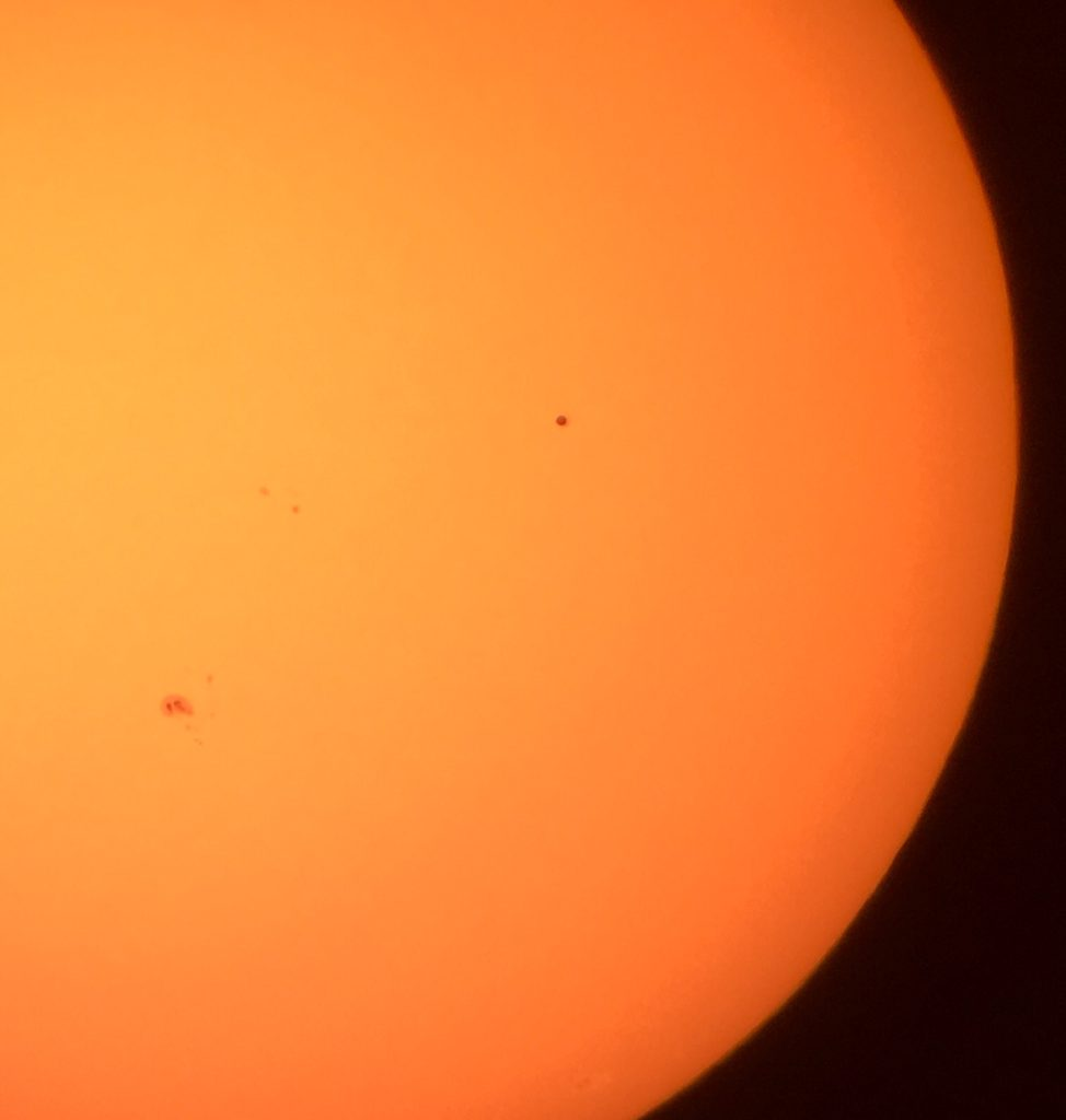 Sunspots and Mercury